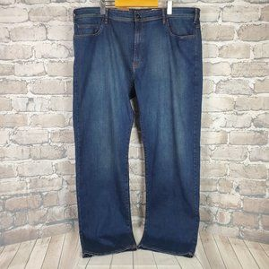 Orvis 5 Pocket Jeans Stretch Medium Blue 42 x 32